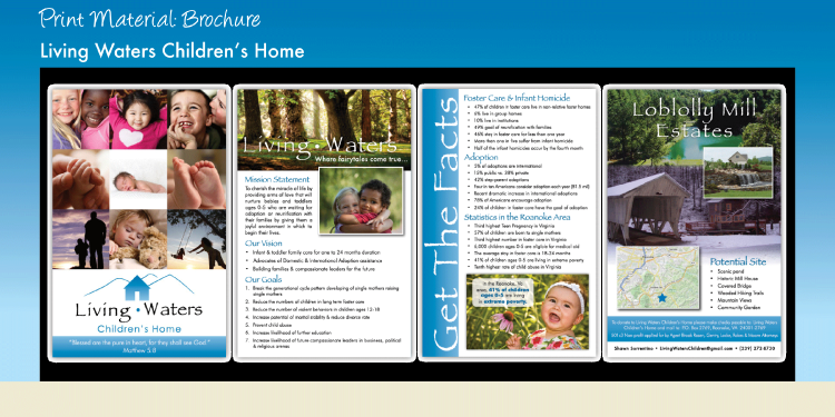 Living Waters Children's Home - Printed Brochure