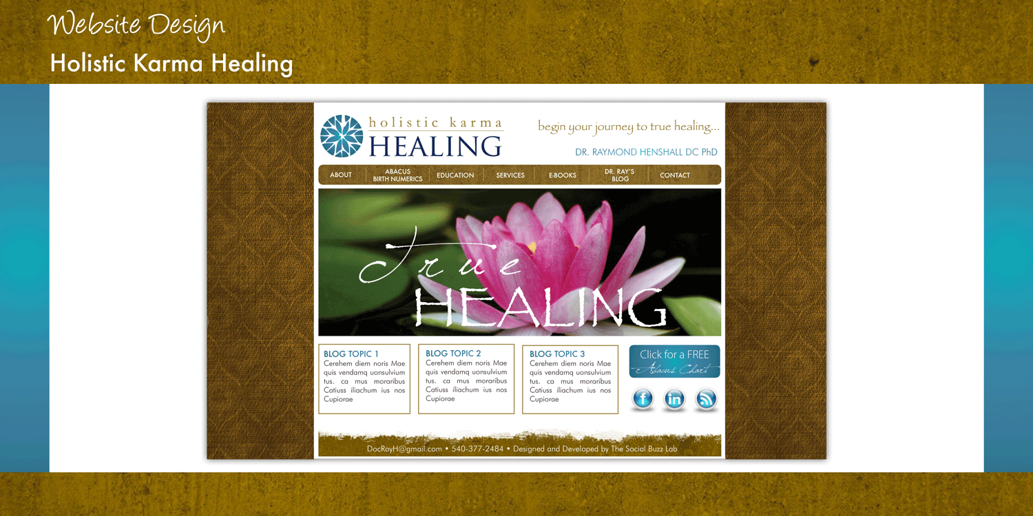Holistic Karma Healing - Website