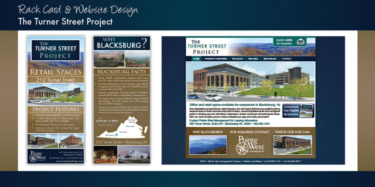 Turner Street Project - Marketing Brochure, Rack Card