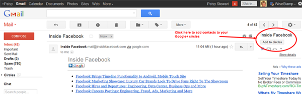 Gmail integrated with Google+