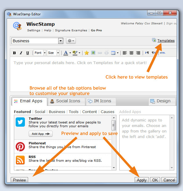 wisestamp2 Pimp Your Email Signature in 7 Simple Steps