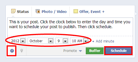 schedule 3 Reasons to Schedule Facebook Posts