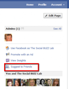 Suggest to Friends on Facebook