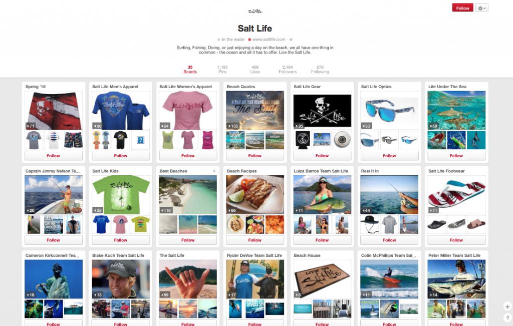 Salt Life Pinterest Page